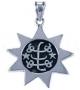 9-puntige ster met Ringsteen - Bahaí symbool (zilver)