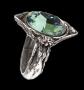 Alchemy Gothic - Absinthe Fairy Spirit Crystal (ring met kristal