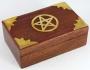 Altaardoos / wensdoos hout met pentagram