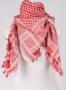 Arabische shawl wit/rood