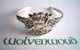 Armband met pentagram, manen en Keltische decoratie (zilver)