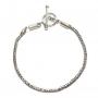 Armband voor beads - koningsketting (zilver)