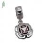 d Bead - Chakra's 1 - Wortelchakra (zilver. edelsteen)