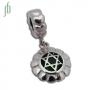 d Bead - Chakra's 4 - Hartchakra (zilver. edelsteen)