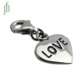 Bedel Love heart (zilver)