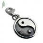 Bedel Yin yang gesloten (zilver)