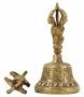 Antieke bel en dorje Tibetaans medium