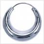 Paar bolle creolen (zilver) - XXL 60 cm