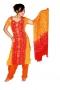 Bollywood pak rood-oranjegeel
