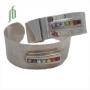 Brede armband met chakra stenen (zilver) glad