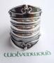 Brede zilveren ring