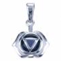 Chakra's 6 - Hoofd chakra (zilver, ioliet)