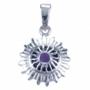 Chakra's 7 - Kruin chakra (zilver, amethyst)