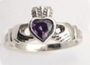 Claddagh ring met amethyst