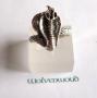 Cobra ring (zilver)