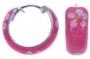 Creooltjes roze gebloemd email (zilver)