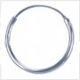 Creolen 25 mm (zilver)