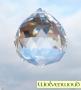Feng shui kristal / regenboogkristal - gefacteerde bol 3 cm