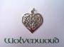 Groot Keltisch hart (zilver)