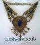 Lapis lazuli Grote Turkmeense ketting