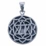 Hanger chakra 4 - Hart chakra (zilver)