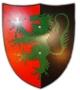 Houten ridderschild 34 cm