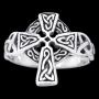 Keltisch kruis ring (zilver)