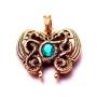 Keltische draken hanger (verguld brons)