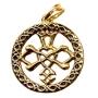 Keltische liefdeshanger (verguld)