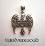 Keltische raaf met pentagram hanger (zilver)