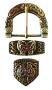 Keltische riemgesp en beslag (brons)