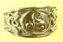Keltische triskele ring (brons) kleine maten