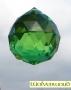 Kristal - Grote olijfgroene bol