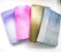 Lange zijden shawl Blauw