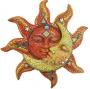 Maan en zon grote wandhanger - geel