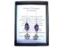 Oorbellen pentagram / amethyst (zilver) Meditatie