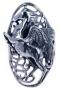 Pegasus / paard ring (zilver)