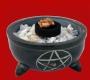 Pentagram bakje - zwarte steen