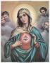 Prent Heilig Hart van Maria A5 gelamineerd