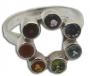 Ring met chakra stenen (zilver)