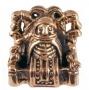 Seidr amulet met Völva en Odin Raven (brons)