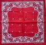 Shawl met blad decoratie 55x55 cm