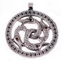 Slangenamulet (zilver met robijn)
