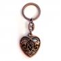 Sleutelhanger Keltisch hart (brons)