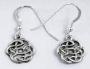 St Justin Oorbellen Keltisch knoopwerk (zilver)