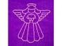 Tarot buidel Engel (bordeaux fluweel)