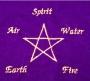 Tarotbuidel Pentagram Elementen (bordeaux fluweel)