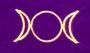 Tarotbuidel Triple Moon (bordeaux fluweel)