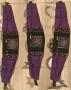 Tassen - riem met tasjes - zwart/paars met pentagram