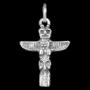 Totempaal hanger (zilver)